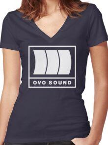 Ovo Sound Logo Funny Geek Nerd Women's Fitted V-Neck T-Shirt