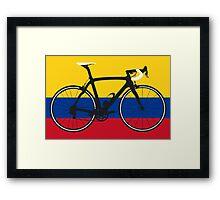 Bike Flag Colombia (Big - Highlight) Framed Print