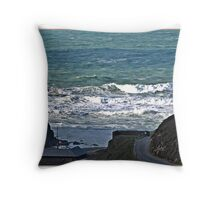 """ After a very bad storm we decided to visit Chapel Porth, The next few Pics are from this cove"" Throw Pillow"