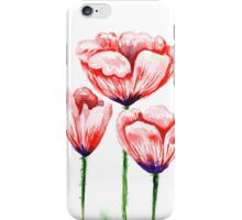 Watercolor poppies illustration iPhone Case/Skin