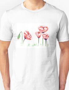Watercolor poppies illustration Unisex T-Shirt