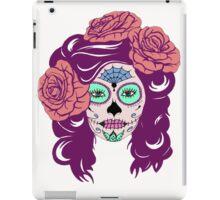 Colorful Sugar Skull Woman iPad Case/Skin