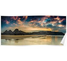 Three Cliffs Bay Sunrise Poster
