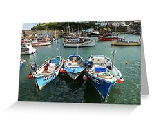 Mevagissey Threesome Greeting Card