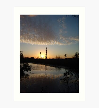 Sunset January 21, 2009 on Econfina Creek Art Print