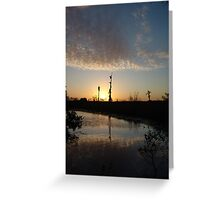 Sunset January 21, 2009 on Econfina Creek Greeting Card