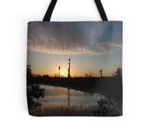 Sunset January 21, 2009 on Econfina Creek Tote Bag