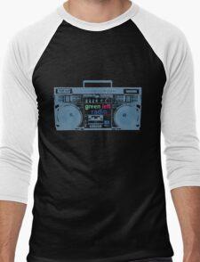 Green Left Radio (black background version) Men's Baseball ¾ T-Shirt