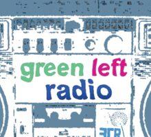 Green Left Radio (black background version) Sticker