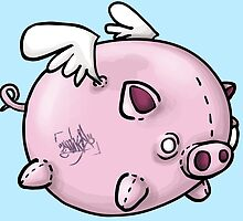 the flying pig by amikal