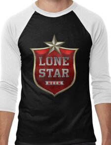 Lone Star Beer Men's Baseball ¾ T-Shirt