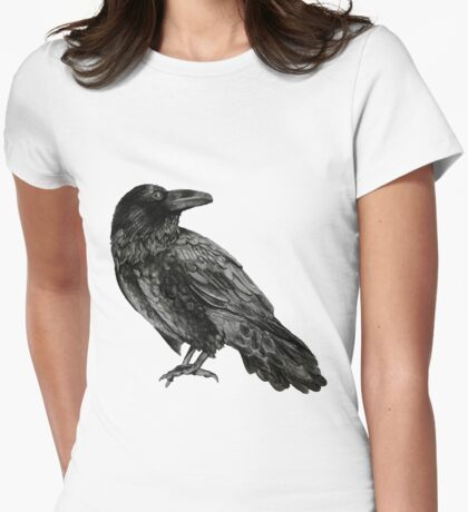 Raven Womens Fitted T-Shirt