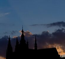 Sunlight On The Castle by Steve Thomas