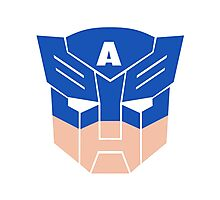 Captain America in Transformers Photographic Print