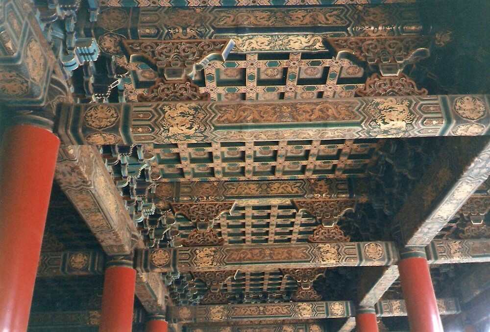 Beijing, The Forbidden City, a painted ceiling by presbi
