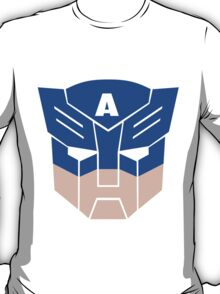Captain America in Transformers T-Shirt