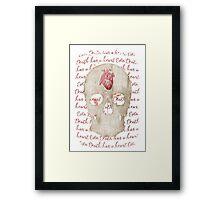 even death has a heart Framed Print