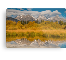 Teton Mountains Reflected in the Black Tail Ponds, Grand Teton National Park, Wyoming Metal Print