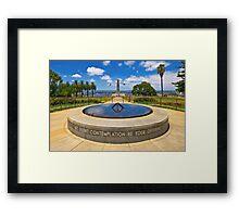 King's Park Memorial Framed Print