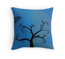 Last Tree Standing - Blue Throw Pillow