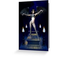 Into the night .. Demon Vampire Greeting Card