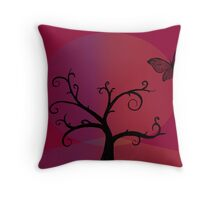 Last Tree Standing - Red Throw Pillow