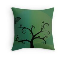 Last Tree Standing - Green Throw Pillow