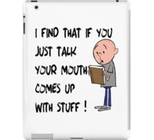 Karl Pilkington - Quote iPad Case/Skin