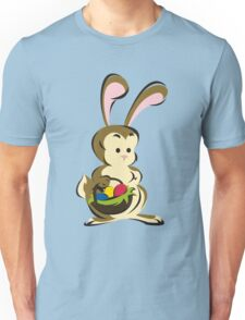 Easter Bunny with a Basket of Eggs Unisex T-Shirt