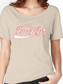 ENJOY BROOKLYN*red/wht Women's Relaxed Fit T-Shirt