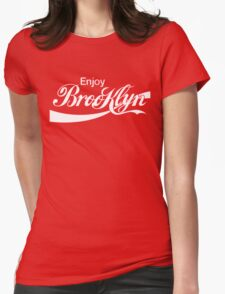 ENJOY BROOKLYN*red/wht Womens Fitted T-Shirt