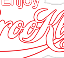 ENJOY BROOKLYN*red/wht Sticker