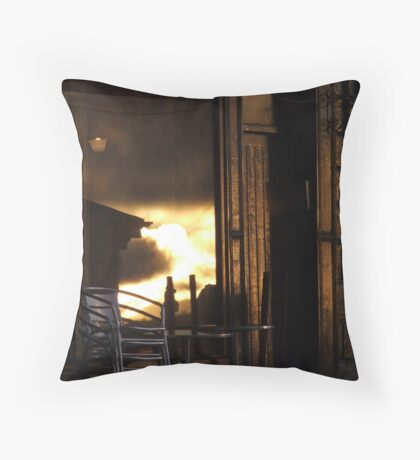 before the dark of day Throw Pillow