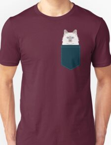 Roxie - White Birman Cat, Cute Kitten, White Cat Blue Eyes, Cell Phone Case, Cat Lady Gift T-Shirt