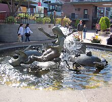 Lovely siren fountain by daffodil