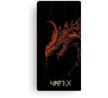 Smaug (blood red ) Canvas Print