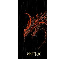 Smaug (blood red ) Photographic Print