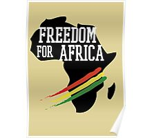 FREEDOM FOR AFRICA Poster
