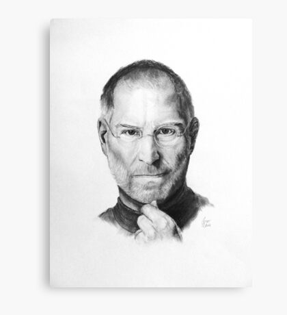 Steve Jobs Pencil Drawing Canvas Print