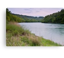 Wind at dusk on the Rhone river Canvas Print