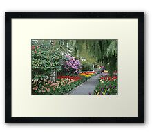 Beautiful Spring Garden Framed Print