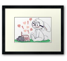 Dirty Bunny - Hearts and Exclamation Marks Framed Print