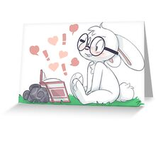Dirty Bunny - Hearts and Exclamation Marks Greeting Card