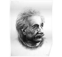 Albert Eistein Pencil Portrait Poster