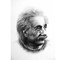 Albert Eistein Pencil Portrait Photographic Print