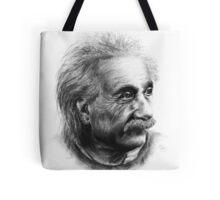 Albert Eistein Pencil Portrait Tote Bag