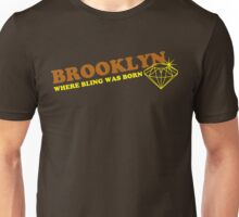 BROOKLYN BLING**brown/yellow Unisex T-Shirt