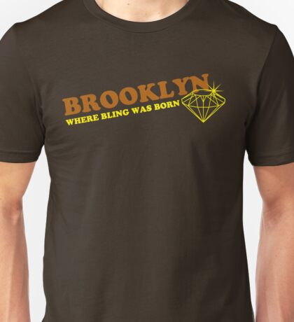 BROOKLYN BLING**brown/yellow Unisex T-Shirt