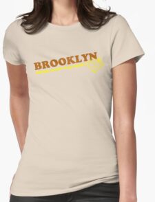 BROOKLYN BLING**brown/yellow Womens Fitted T-Shirt