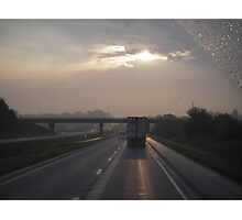 view from a windshield Photographic Print